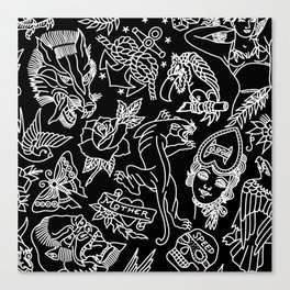 Black print Canvas Print
