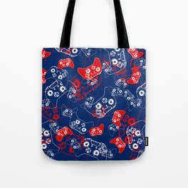 Video Game Red White & Blue 2 Tote Bag