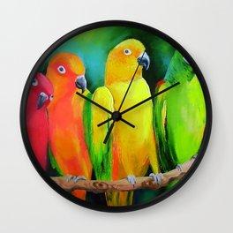 Parrots Australia Wall Clock