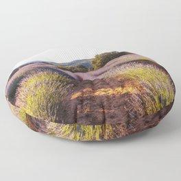 Lavender Fields at Sunset Floor Pillow