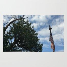 clouds & tattered patriotism Rug