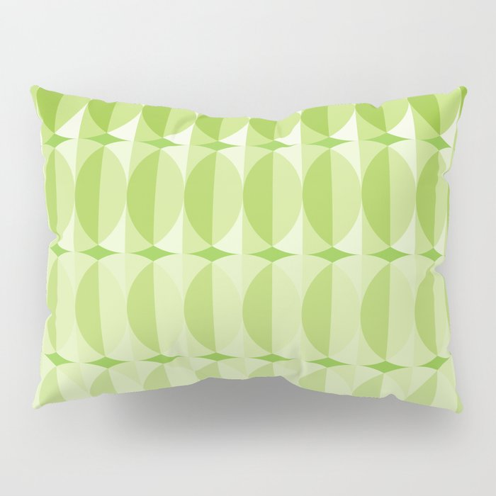 Leaves at springtime - a pattern in green Pillow Sham