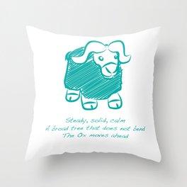 Ox Throw Pillow