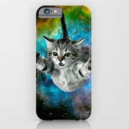 Galaxy Cat Universe Kitten Launch                                                 iPhone Case