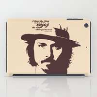 johnny depp iPad Cases featuring Lab No. 4 - Johnny Depp Motivational quotes Poster by Lab No. 4