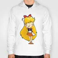 sailor venus Hoodies featuring Sailor Scout Sailor Venus by Space Bat designs