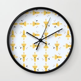 Spaceships pattern Wall Clock