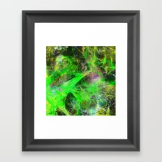 Neon Galaxy - Abstract Framed Art Print