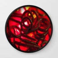 hook Wall Clocks featuring Hook Eye by Gary Lee Hutchings