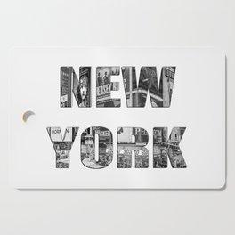 New York  B&W typography Cutting Board