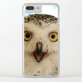 Owl_20180206_by_JAMFoto Clear iPhone Case