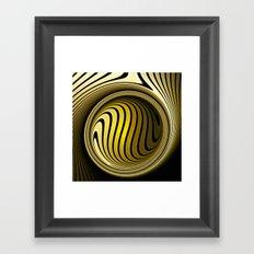 Turning into gold Framed Art Print