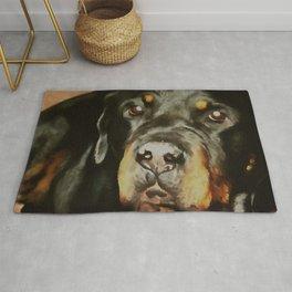 Dogs Lover Rottweiler Pet Portrait Rug
