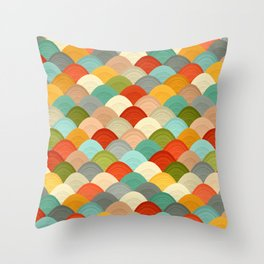 yarn hill dollops Throw Pillow