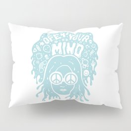 Open Your Mind in Mint Pillow Sham