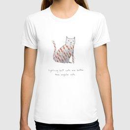 lightning bolt cats are better T-shirt
