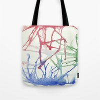 splatter Tote Bags featuring Splatter by Alex Camp