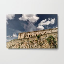 Old Prison on Cliff Metal Print