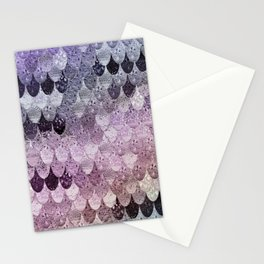 SUMMER MERMAID - PURPLE RAINBOW Stationery Cards
