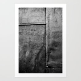 In a Grey Town 1: Churchyard Door Art Print