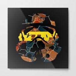 Stormtrooper Contrast Pattern Metal Print
