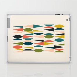 Mid Century Modern Abstract Colorful Shapes Funky Cool Minimalist Pattern Laptop & iPad Skin
