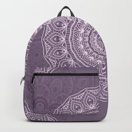 White Lace on Lavender Backpack