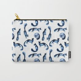 A pack of silver foxes. Carry-All Pouch