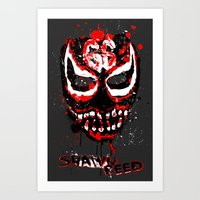 Shawn Reed Paint Face Art Print