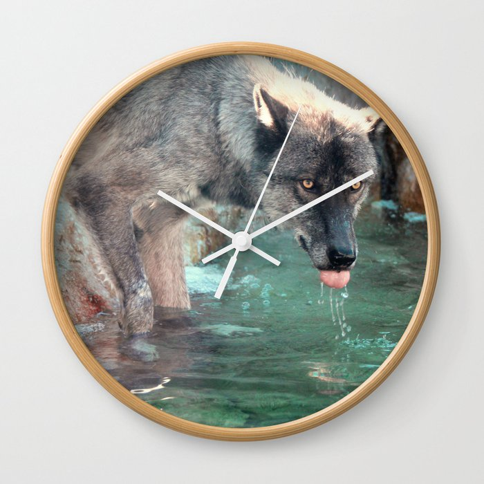 Thirsty Like the Wolf Wall Clock