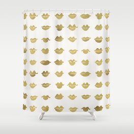 Kiss Collection – Gold Ink Shower Curtain