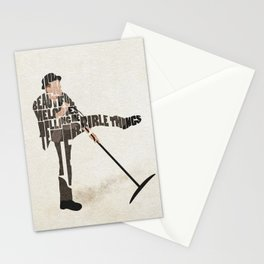 Typography Art of Tom Waits Stationery Cards