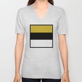 Team Colors 8...Gold ,black and white Unisex V-Neck