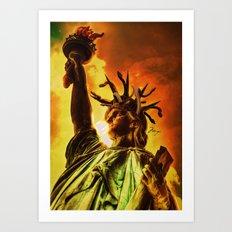 Medusa of Liberty Art Print