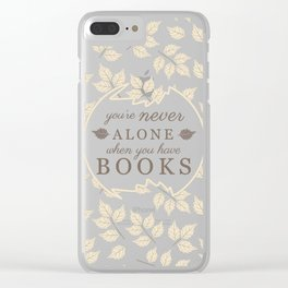Book Lovers Clear iPhone Case