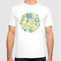 Little Flower Circle Mens Fitted Tee White MEDIUM