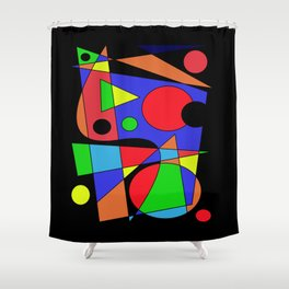 Abstract #87 Shower Curtain
