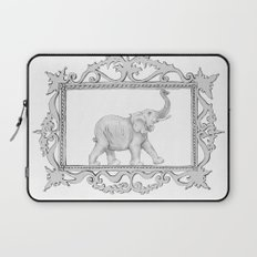 grey frame with elephant Laptop Sleeve
