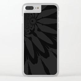 The Modern Flower Slate Black Clear iPhone Case