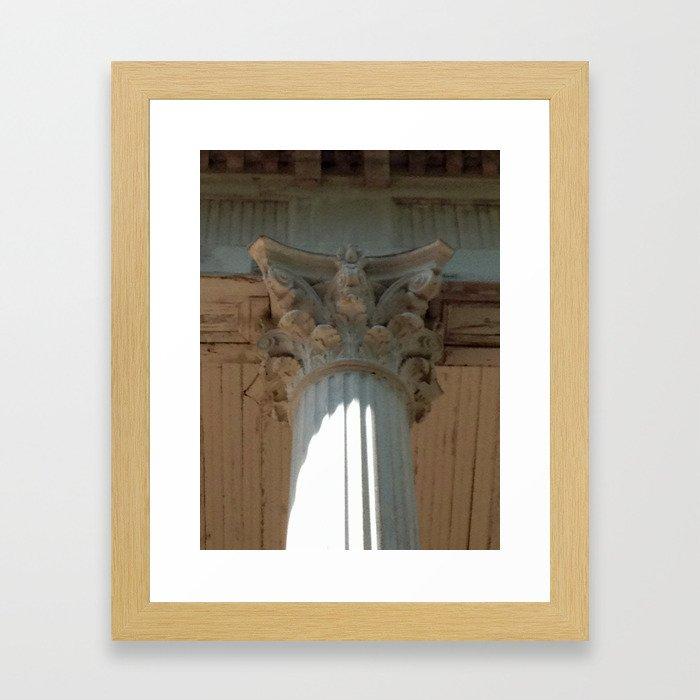 Corinth Column Framed Art Print
