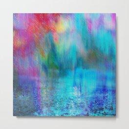 Rain Curtain Metal Print