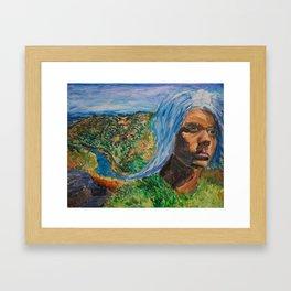 Waterfall Self-Portrait Framed Art Print