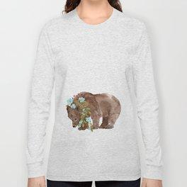 Bear with flower boa Long Sleeve T-shirt