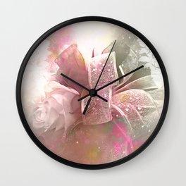Beautiful flowers, soft colors Wall Clock