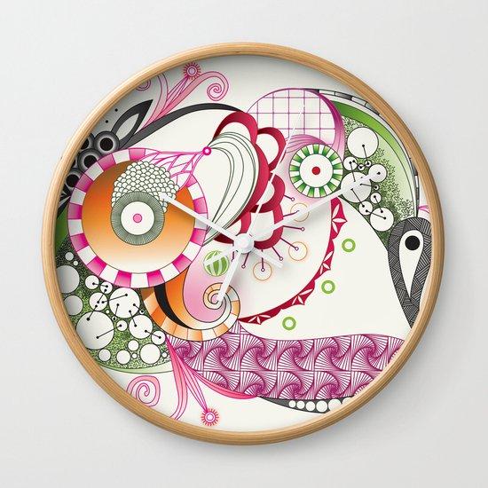 Autumn tangle Wall Clock