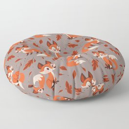 Cute Foxes Floor Pillow