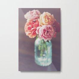 Fresh Cut Roses Metal Print
