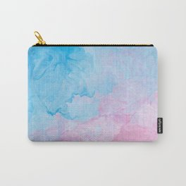 Blue Pink Marble Carry-All Pouch