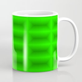 Strict convex rectangles of green tiles with shiny edges. Coffee Mug