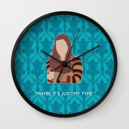 The Empty Hearse - Molly Hooper Wall Clock